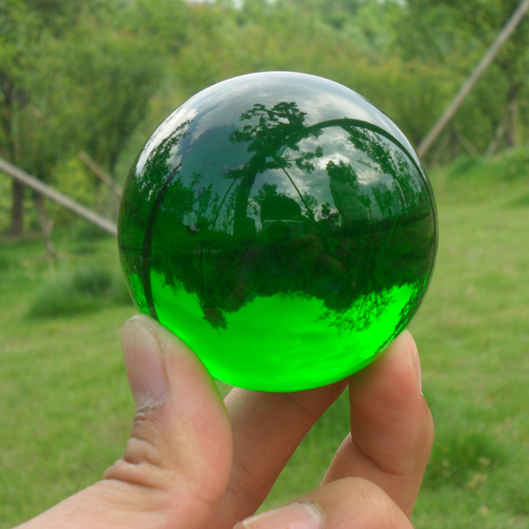 60mm Green Asian Crystal Smooth feng shui Crystal Glass Ball Sphere Fashion Table Decor Good Luck Ball For Christmas Magic Gifts
