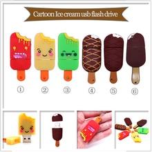 Mini USB flash drive cartoon Ice cream pen drive 4GB 8GB 16GB 32GB 64GB cute cool memory stick creative gift pendrive usb stick
