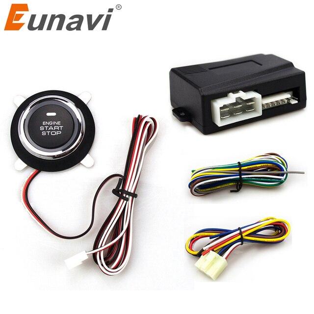 2018 Специальное предложение ограничено по времени Eunavi Автомобильная сигнализация с кнопка зажигания и транспондер иммобилайзер остановка двигателя