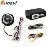 Eunavi Car Alarm With Push Start Button And Transponder Immobilizer System Car Engine Start Stop