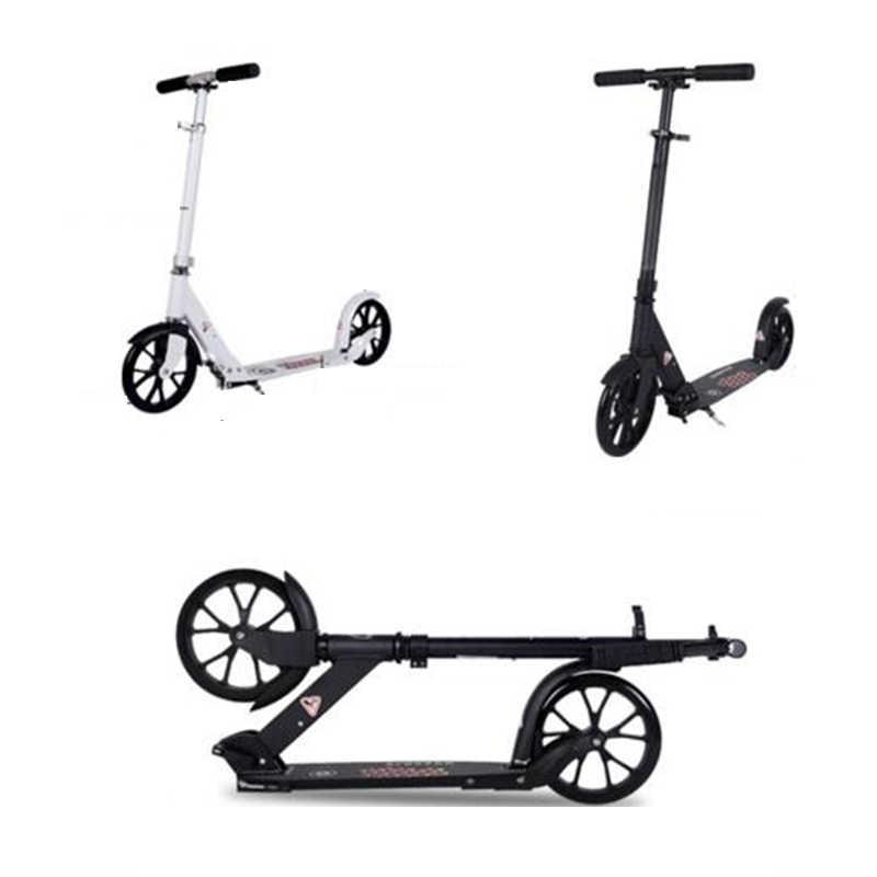 Adultchildren Kick Scooter Lipat Pu 2 Roda Binaraga Semua Aluminium Shock Penyerapan Kampus Urban Transportasi