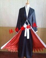 Kurosaki ichigo Costume cosplay cloak mantissas full set BLEACH Kurosaki ichigo full set custom 3in1 bankai cloak +pants+belt