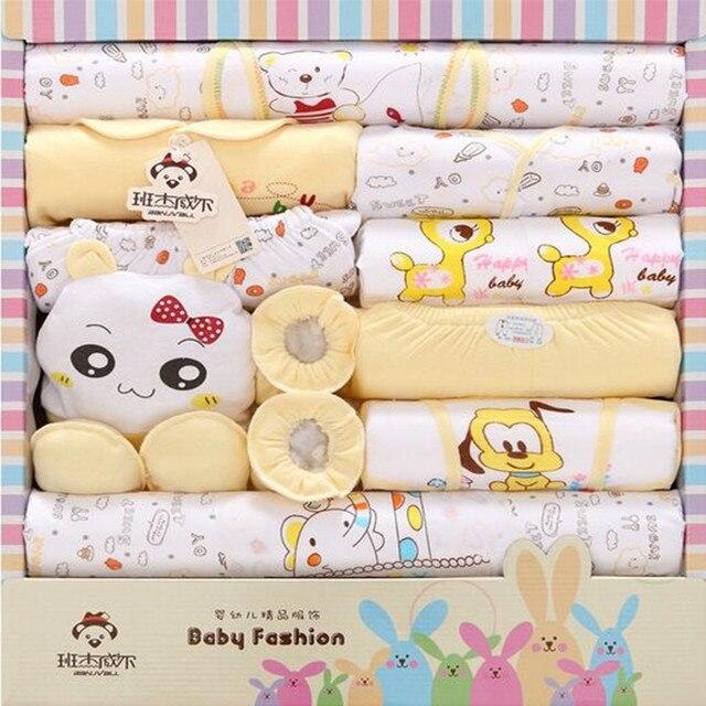 18 Piece /Set 100% Cotton Newborn Baby Girls Clothing Full O-neck  Baby Infant Ounderwear 2016 Fashion Cute Style Baby Boy