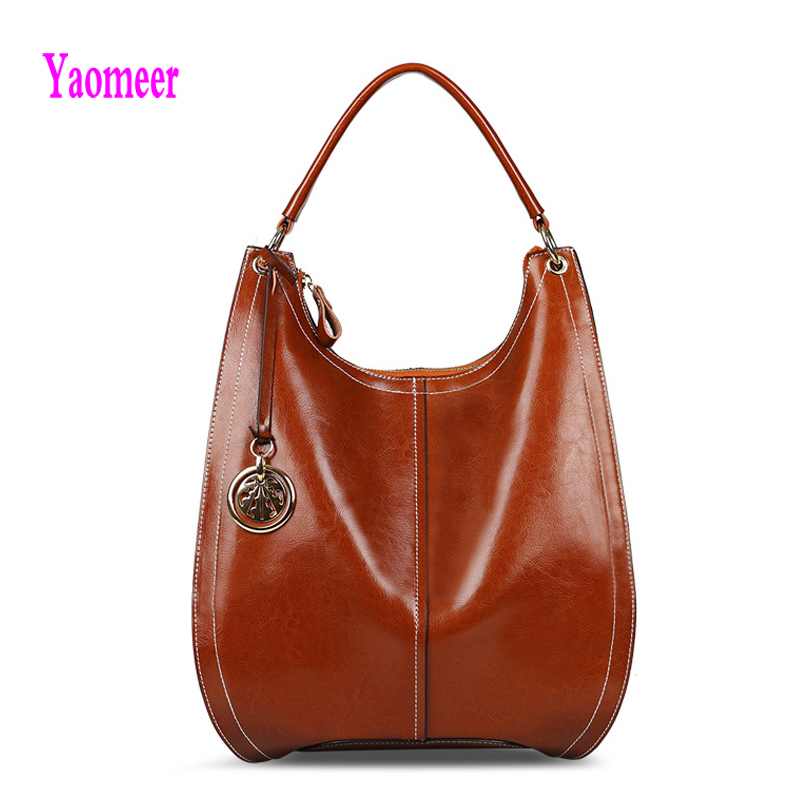 100% Genuine Leather Women Handbag High Quality Hollow Out Shoulder Crossbody Bags Vintage Zipper Clutch Black Bucket Totes A03