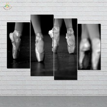 Ballet Dancing Swan dance Picture And Poster Canvas Painting Modern Wall Art Print Pop Pictures For Living Room 4 PIECE