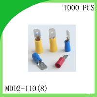Hot Sale Brass 1000 PCS MDD2 110 8 Cold Pressure Terminal Male Pre Insulated Electrical Crimp