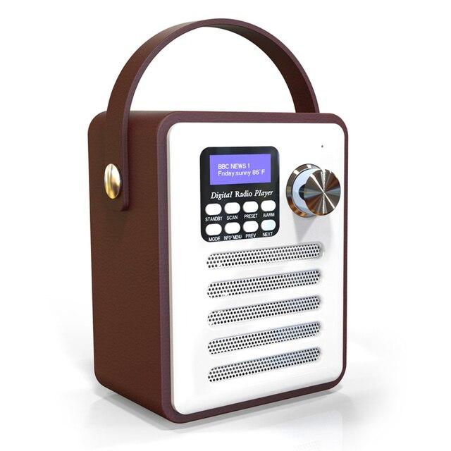 H6 DAB/DAB + デジタルラジオワイヤレス Bluetooth スピーカー MP3 プレーヤー AUX TF U ディスク読書 Fm ラジオ /ポータブルハンドルアラーム時計