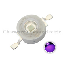 10pcs 3W UV Purple LED Ultraviolet Bulbs Lamp Chips 365nm 375nm 380nm 385nm 395nm 400nm 405nm 410nm 420nm 3W High Power Light цена