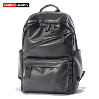 MAGIC UNION Men Patent Leather Backpack Men S Travel Bags Men S Leather Backpack Western College