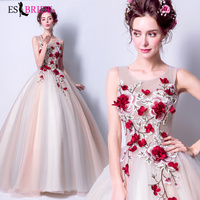Red Rose Special Occasion Dress Vestidos De Fiesta De Noche Evening Dress Robe De Soiree Evening Dresses Evening Gown ES2023