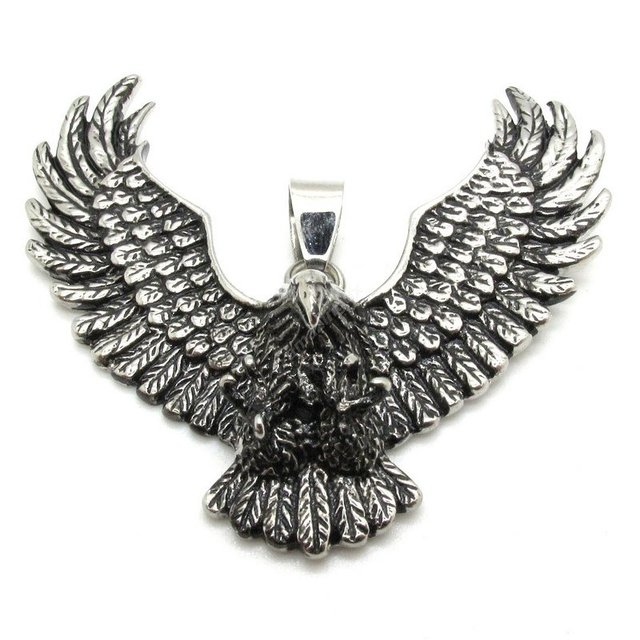 Wholesale animal power eagle pendant chain necklace mens silver wholesale animal power eagle pendant chain necklace mens silver jewelry 316l stainless steel wing hawk pendant mozeypictures Gallery