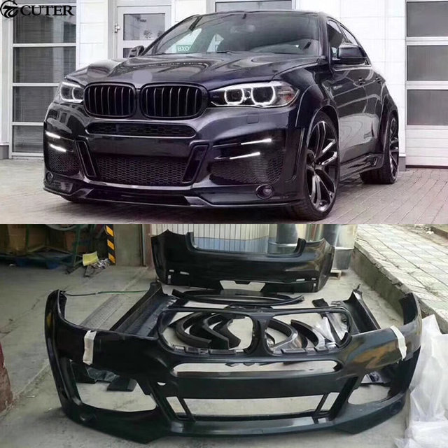 Bmw X6 Weight: F16 X6 Unpainted Wide Car Body Kit Front Bumper Rear