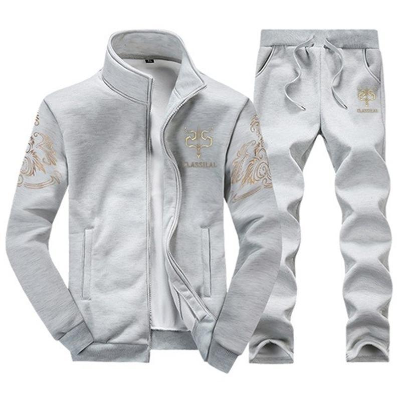 Модни мъжки спортни дрехи с качулки - Мъжко облекло - Снимка 3