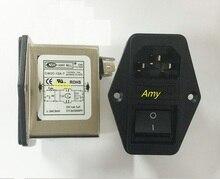 Мощный фильтр EMI CW2C 3A 6A 10A T, Очищающий однофазный фильтр 220 В переменного тока