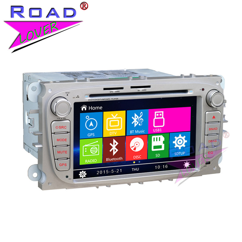 TOPNAVI Wince 6.0 7inch Car Media Center DVD Auto Player For Ford Focus/Mondeo/S-MAX/Connec Two Din Stereo GPS Navi TFT Touch