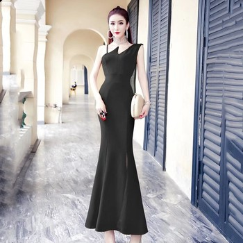 849cc6c47 Oportunidad Real de atmósfera vestido de moda de 2019 nuevo estilo elegante  sexy cola larga vestido