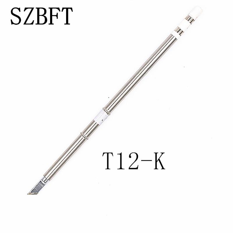 Puntas de soldadura de hierro SZBFT T12-K JS02 KF KU WB2 D52 Serie ILS para estación de retrabajo de soldadura Hakko FX-951 FX-952 envío gratis
