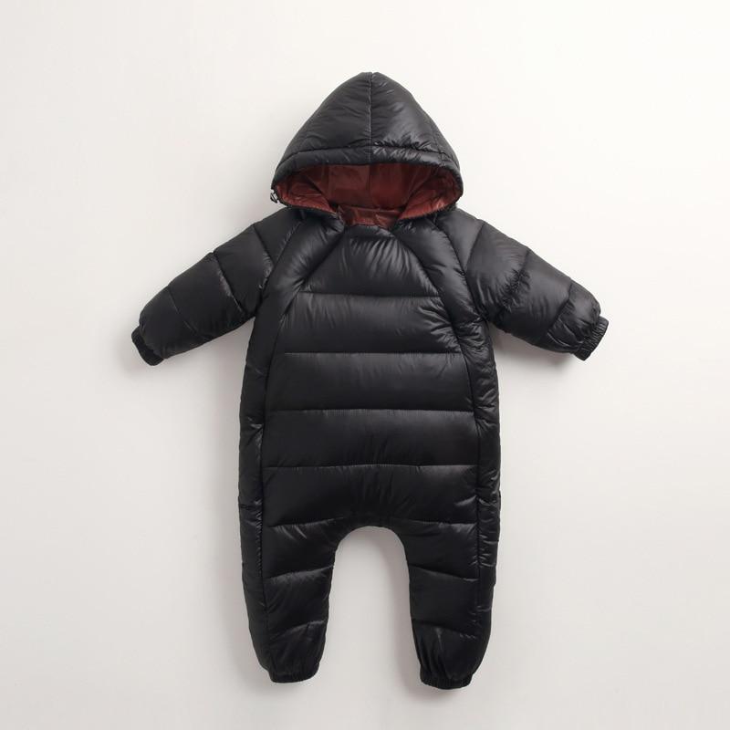 7519cd3a9 Winter Kids Warm Jumpsuit Children Zipper Infant Puffer Overall ...