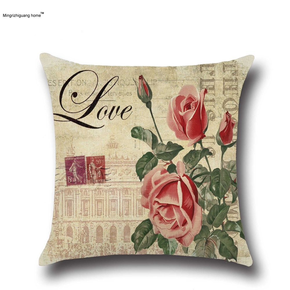 Aliexpress.com : Buy 16PC American country rose cotton linen sofa ...