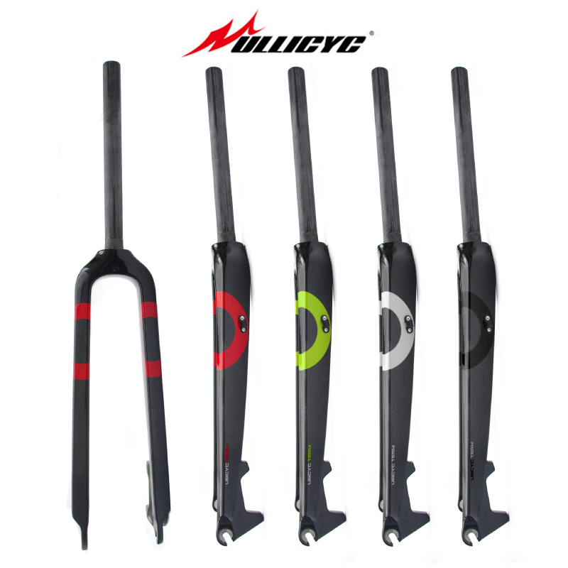 Ullicyc Circular Tube Full Carbon Fiber Mountain Bike Fork Hard Fork Fit Disc Brake colorful 1 1 8 28 6mm Fork 26 27 5 29 Inch in Bicycle Fork from Sports Entertainment