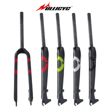 цена на Ullicyc Circular Tube Full Carbon Fiber Mountain Bike Fork Hard Fork Fit Disc Brake colorful 1-1/8 28.6mm Fork  26/27.5/29 Inch