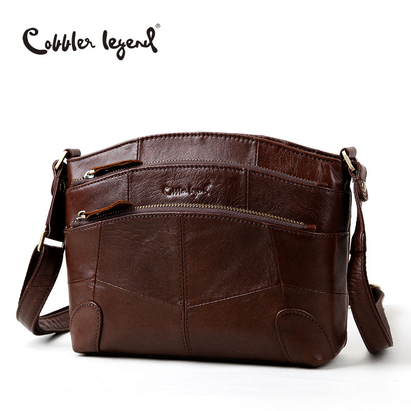 Cobbler Legend Multi Pockets Vintage Genuine Leather Bag Female Small Women Handbags Bags For Women 2018 Shoulder Crossbody Bag jinbaolai genuine cowhide leather coin purse men clutch luxury brand high quality vintage designer male wallet bid069 pr49
