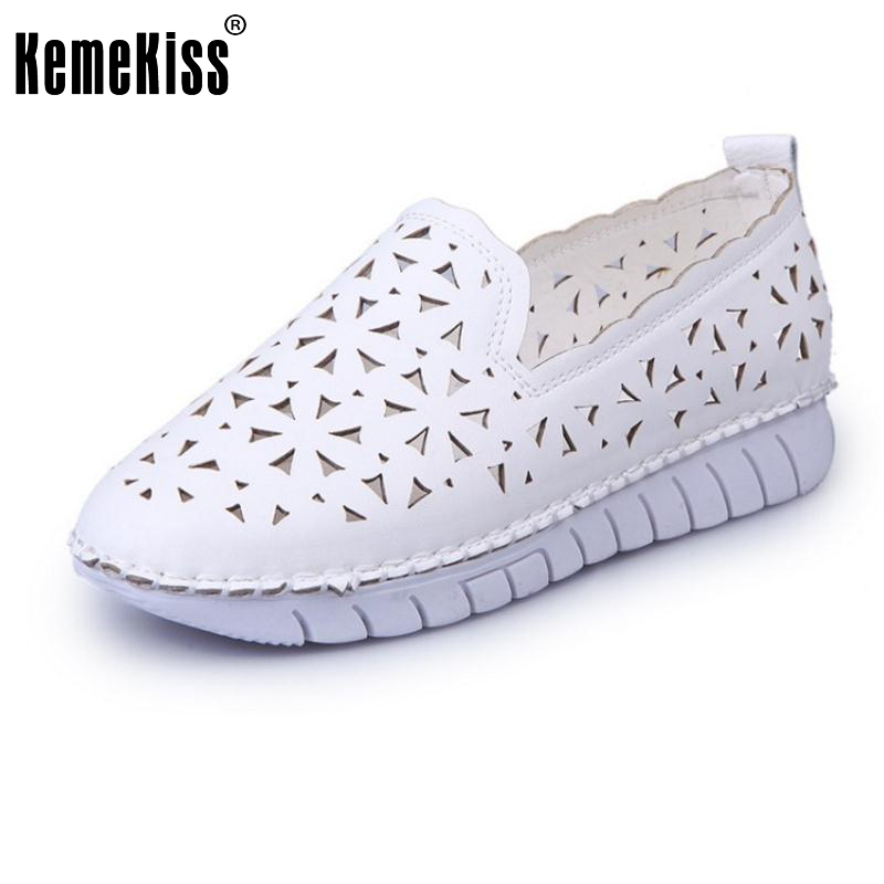 Fashion Women'S Flats Shoes Women Round Toe Hallow Out Flat Shoe Leisure Comfortable Student Female Quality Footwear Size 35-40