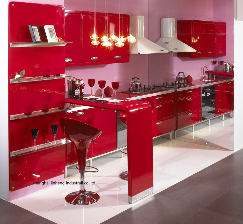 High Gloss/lacquer Kitchen Cabinet Mordern(LH-LA091)