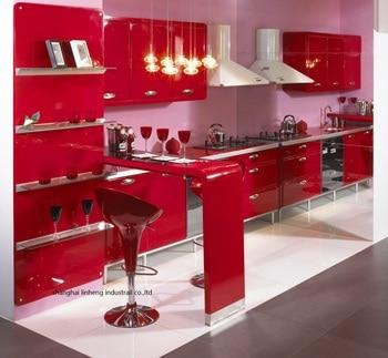 High gloss/lacquer kitchen cabinet mordern(LH-LA091)