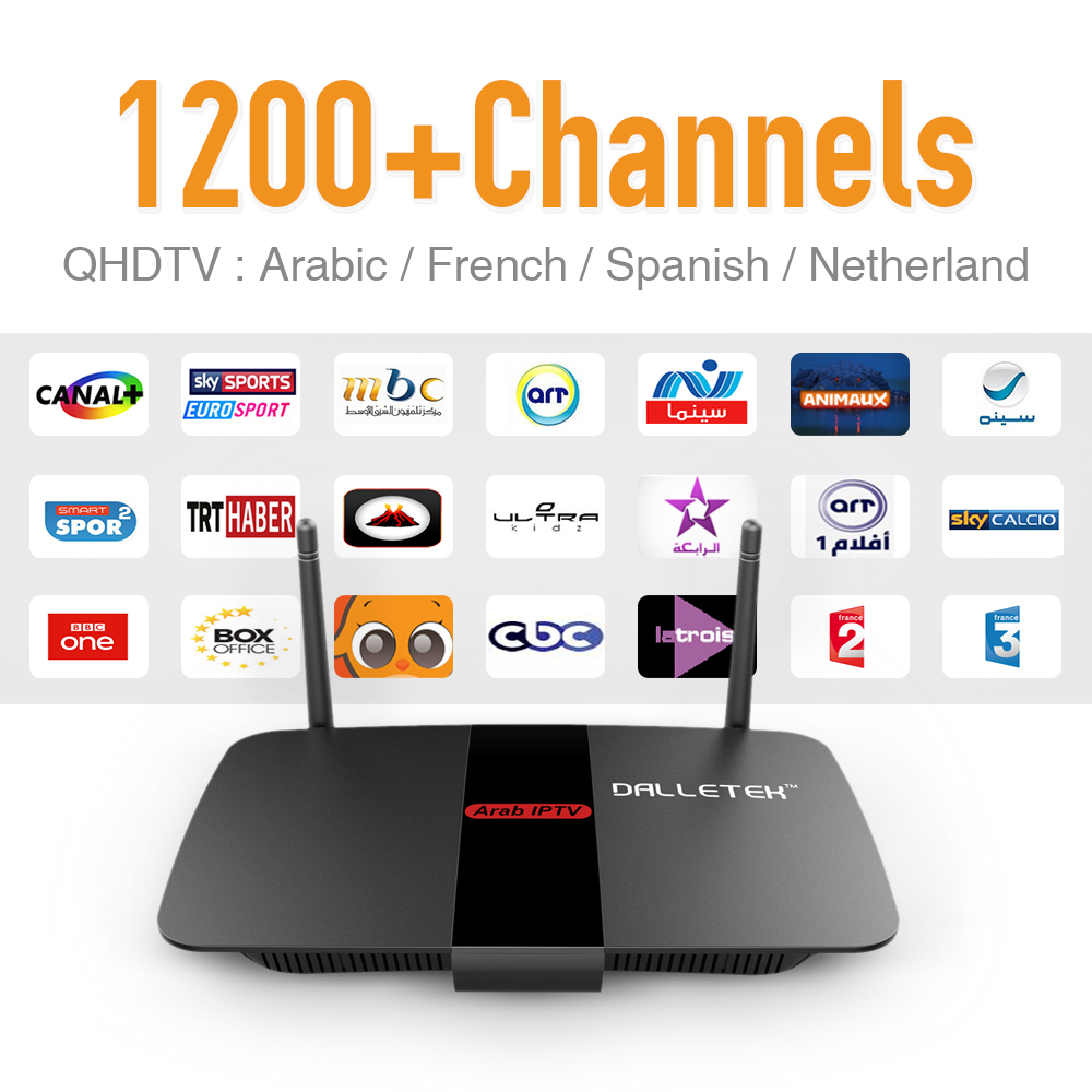 Iptv Europe Arabic Smart Android Tv Box 1200 High Quality