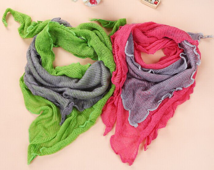 Triangle girl women Scarf shawls Scarves Stole Neckerchief FACTORY CLEARANCE SALE 170*60cm 14pcs/lot #3975