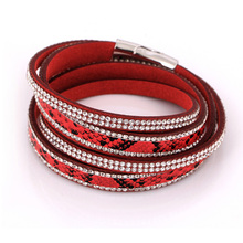 2016 new arrival leather bracelets long bracelet for women bangles jewelry christmas gift women hot sale free shipping