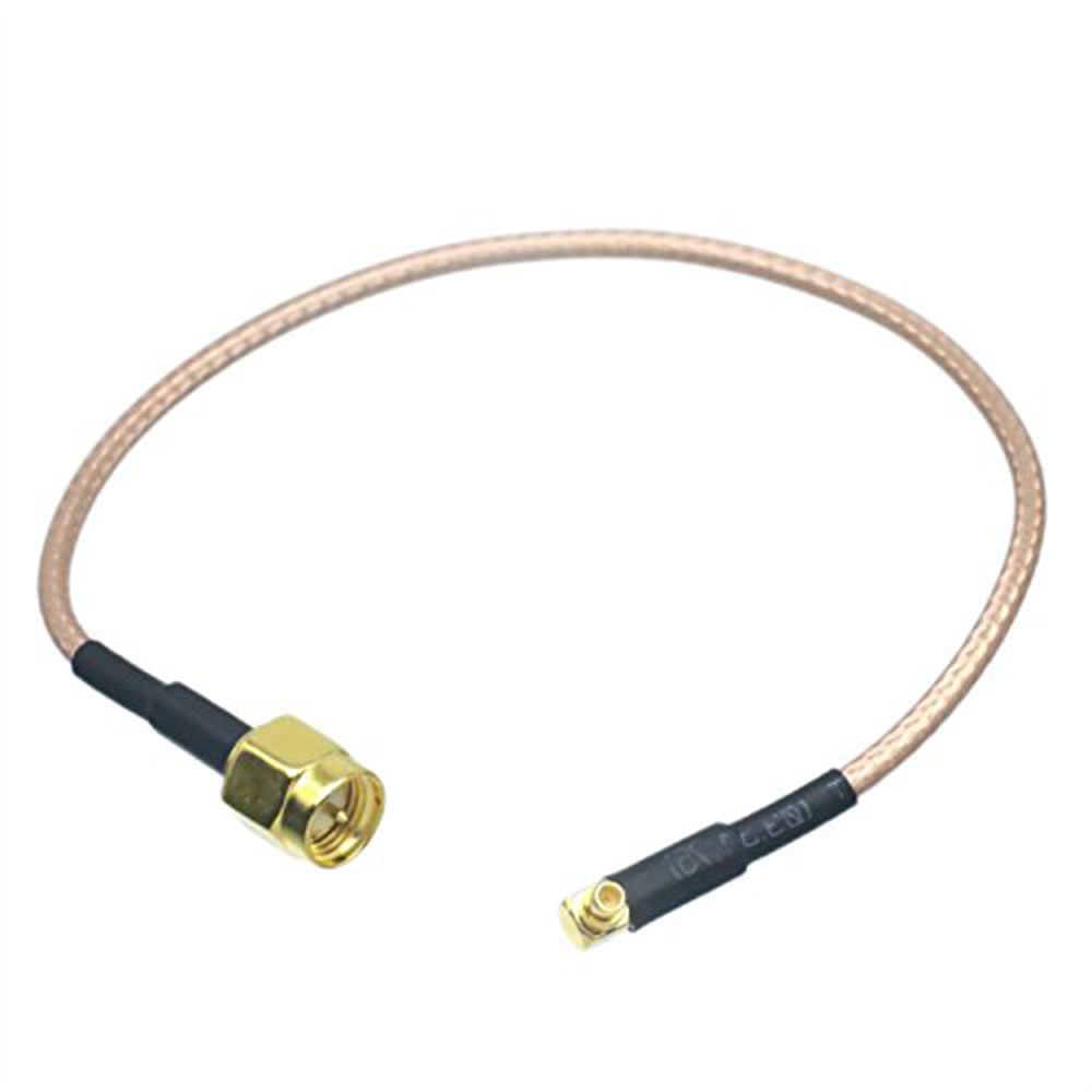 ALLISHOP 30 Pcs 7CM RF WiFi Antenna EXTENSION Cable/Lead Wireless SMA Male to MMCX Male Right Angle Pigtail Cable RG178
