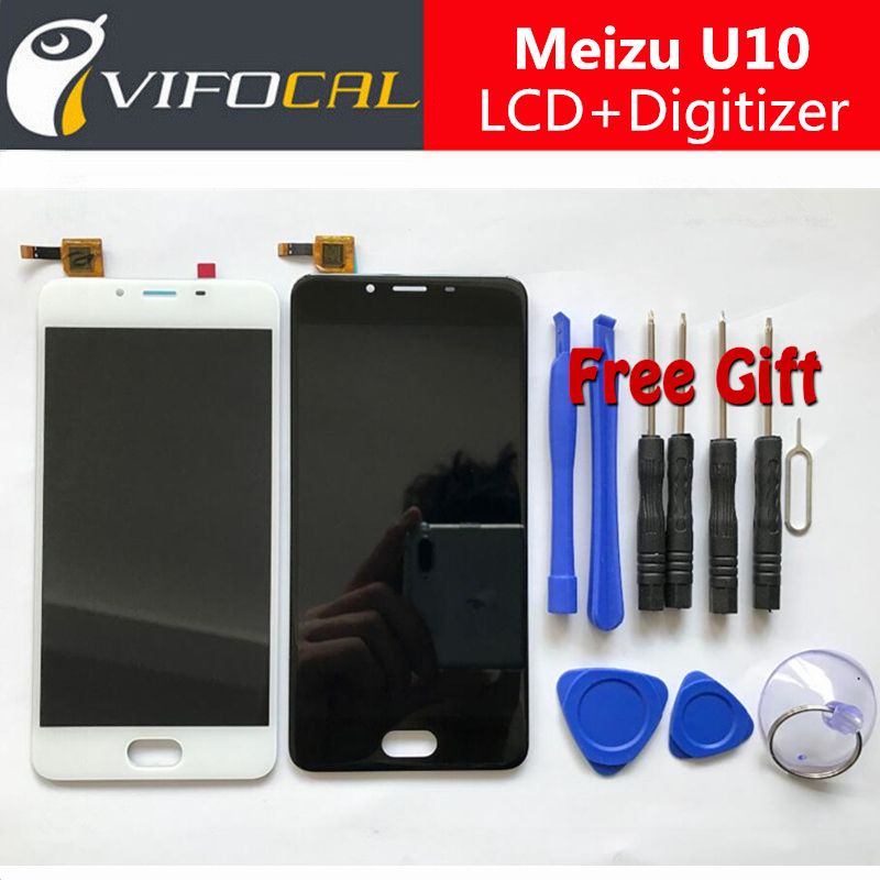 Meizu u10 pantalla lcd sensor de pantalla táctil + herramientas 100% nuevo digit