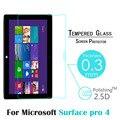 9 H 0.3 ММ 2.5D Закаленное GlassFor Microsoft Surface Pro 4 12.3 ''Tablet PC Ультратонкий Премиум Взрывозащищенный Протектор Экрана фильм