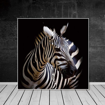 Hayvan Tuval Boyama Ev Dekor Duvar Sanat Posterleri Zebra Baskı