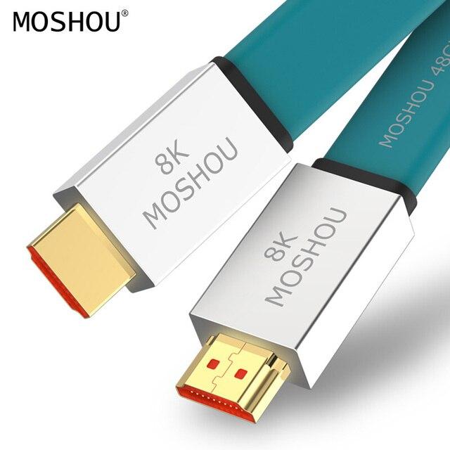 HDMI 2.1 Cavi 8K @ 60Hz 48Gbps Ultra Ad Alta Velocità di 4K 120 Hz per LG Samsung QLED TV Amplificatore Multimediale Proiettore Video Cavo Audio