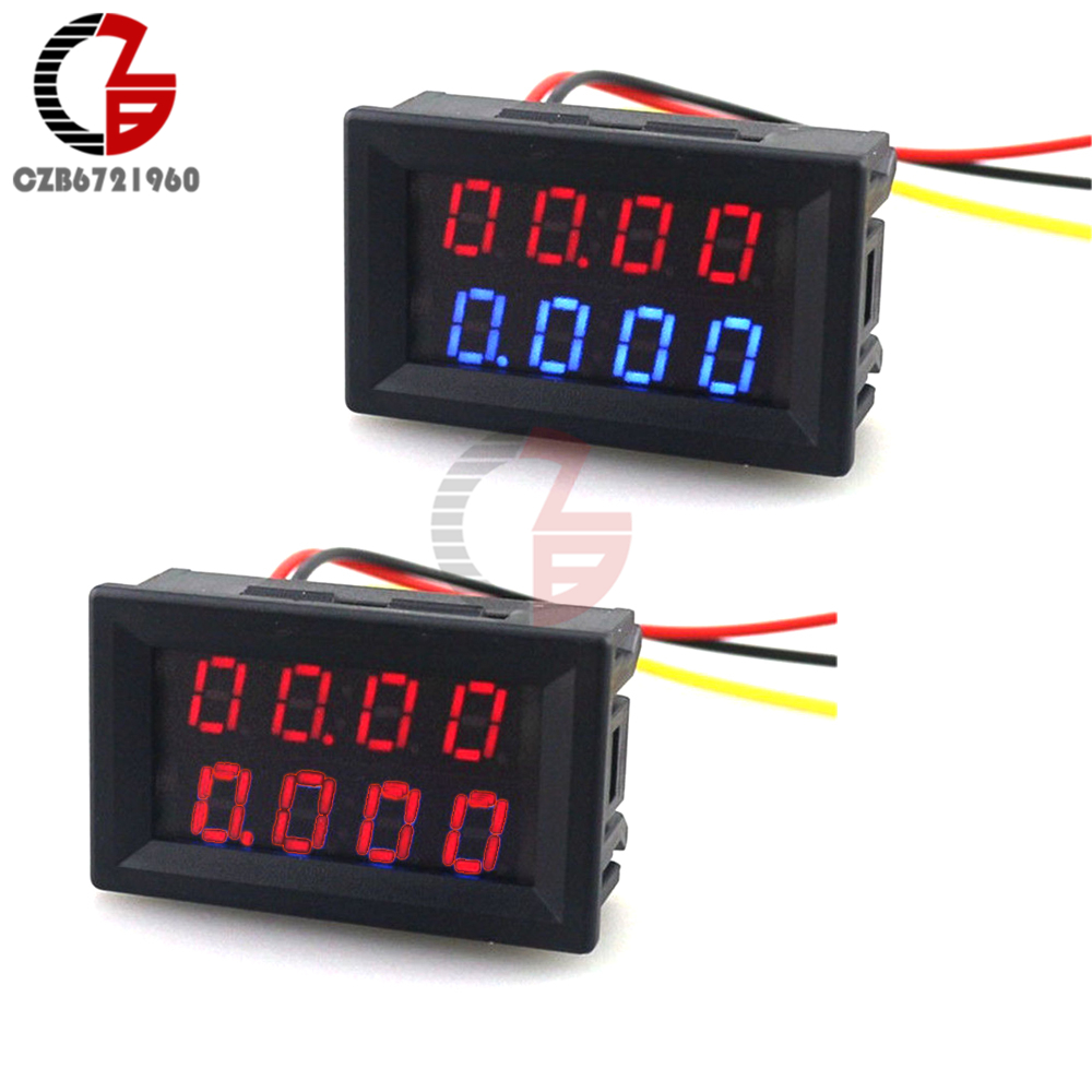 Dual Display DC 0.28 LED Digital Voltmeter Ammeter Voltage Current Meter Tester Volt Amp Detector 5V 12V 24V 10A for Car dc 0 100v 10a digital voltmeter ammeter led dual display voltage current indicator monitor detector dc amp volt meter