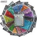 16 sacos de 16 cores A Laser Holográfico Brilhante Belas Unhas Glitter Pó Poeira Unhas DIY Dicas de Arte Artesanato Decoração Manicure Ferramentas L01-16