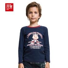 JJLKIDS boy t-shirt beau dinosaure de bande dessinée motif classique col rond manches longues top enfants vêtements 6-15y shiping libre