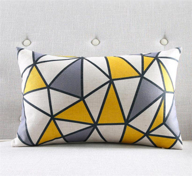 Maiyubo 30x50cm Geometric Cushion Cover Modern Turquoise Throw Pillow Covers Scandinavian Chair Seat Pillow Cases for Sofa PC551