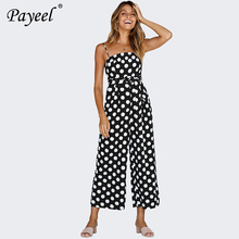 Women Jumpsuit Sleeveless Female Jumpsuits Elegant Rompers Polka Dot Overalls For Womens Summer Plus Size Sexy Overall Long Pant