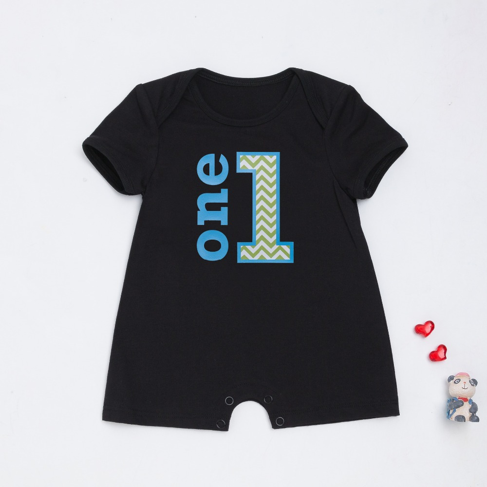 2017 New infant printing anchor one i love baby shorts sleeve rompers fashion baby girls boys clothes summer kids jumpers 17S907