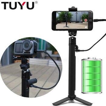 TUYU 2 in1 Portatile 5200 mah Batterie per Foto/Videocamera potere Selfie Bastone Per dji OSMO ACTION Gopro Hero7 6 5 4 sj8 accessori del telefono Mobile