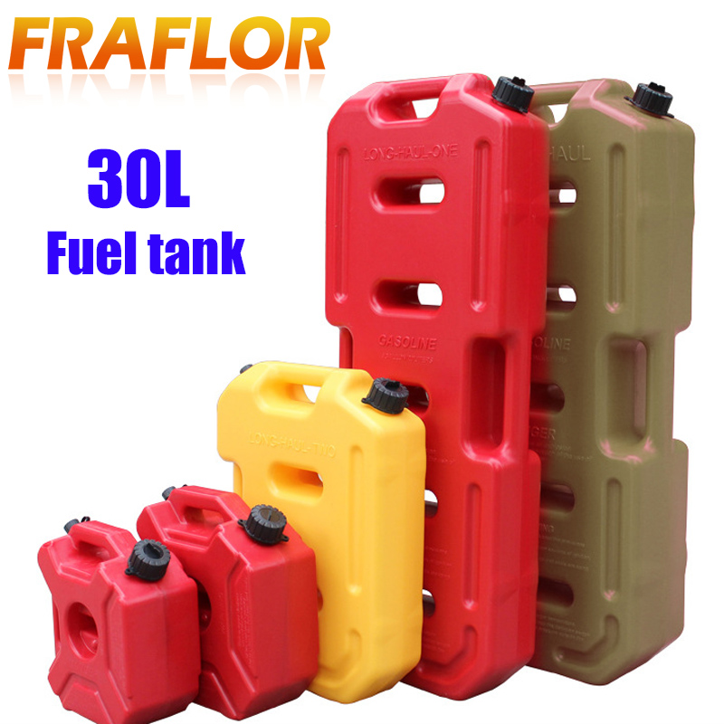 30L Fuel Tanks Motorcycle Plastic Petrol Cans Mount Motorcycle Jerrycan Gas Can Gasoline Oil Container Canister