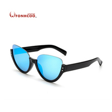 2017 FONHCOO NEW fashion sunglasses female half-frame cat eye women Vintage retro glasses oval UV400 rays protection