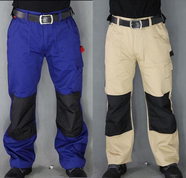 Trabalho dos homens Calças Calças de segurança Militar Mais Bolsos Com Zíper Calças Calças Do Exército Não É fácil de sujo Trabalhadores Eletricista de Reparação Automóvel