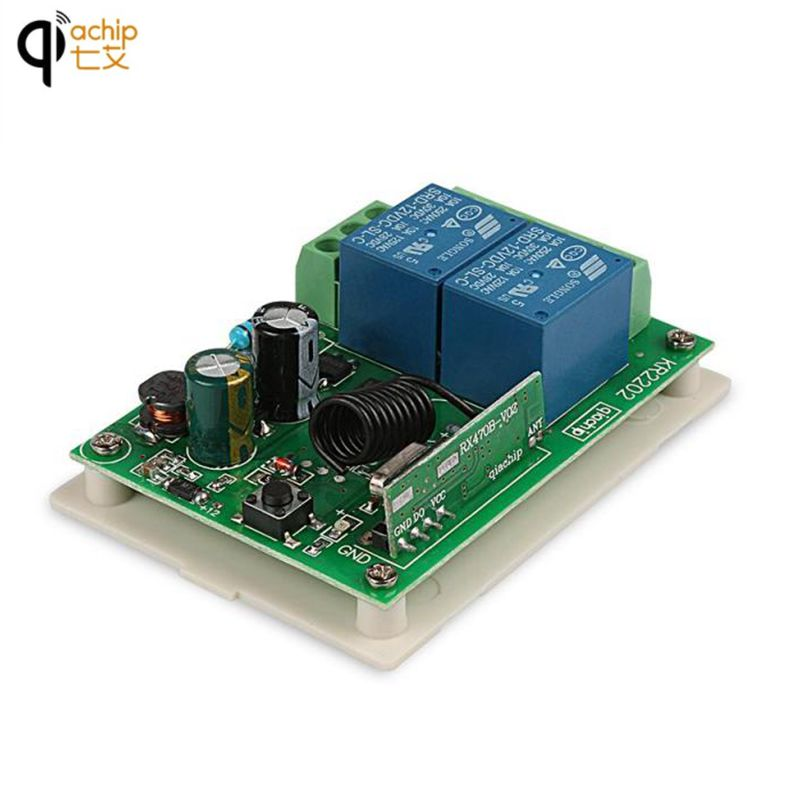 Lamp Switch Universal 2-Channel Remote Control Switch 433MHz Wireless RF Transmitter Relay Receiver Integrated Circuit Module 433mhz dc12v 8ch channel wireless rf remote control switch transmitter receiver