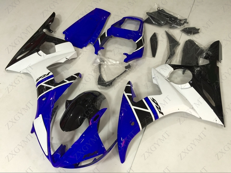 Fairing Kits YZFR6 2003 - 2005 Blue White Body Kits YZF R6 04 05 Full Body Kits YZF600 R6 2005Fairing Kits YZFR6 2003 - 2005 Blue White Body Kits YZF R6 04 05 Full Body Kits YZF600 R6 2005