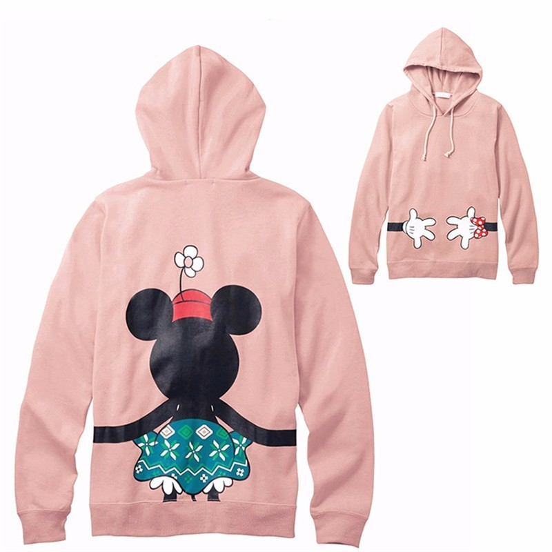 LILIGIRL Dad Mommy And Me Hoodies Sweatshirts For Family Matching Tops Clothes Mickey Minnie Mother Daughter Clothing Outfits